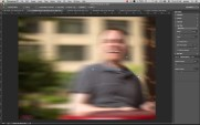 Use the red arrows to define how much blur in each direction