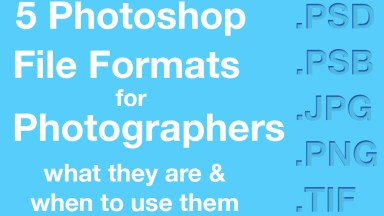 The Big 5 Photoshop Formats