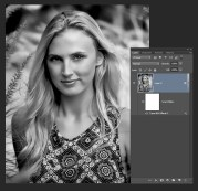 Create a smart object and add a B&W filter