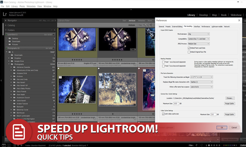 Quick Tip to Speed Up Lightroom