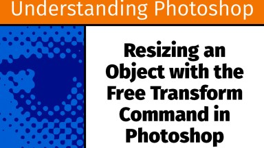 Resizing an Object with the Free Transform Command in Photoshop [UP19]