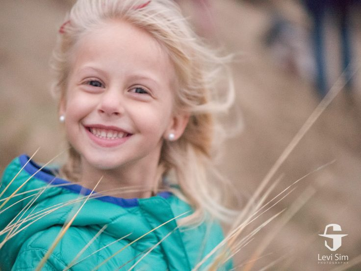 Lumix GH4, 42.5mm f/1.2mm lens, f/1.2, 1/40s, ISO 6400. This picture is out of focus--she moved between this one and the one above just enough to be soft, and it appears much more noisy, even though it has the exact same exposure settings are the image above.