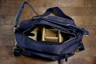 This shows the bag, empty, with the camera insert inside.