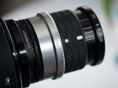 This the lens with both extensions and the built-in extension.