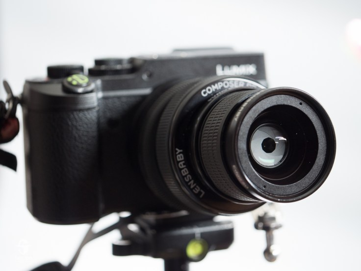 The Edge 50 mounted on my Lumix GX8. You can also get mounts for Canon, Nikon, Sony, Fuji, Pentax, and Samsung. Count them: nine aperture blades. This is a very fine piece of glass.