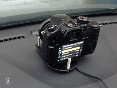 The Platypod Pro kept my camera on the dashboard.