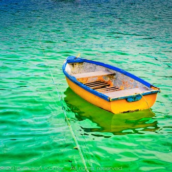 Boat in St. Ives Harbor