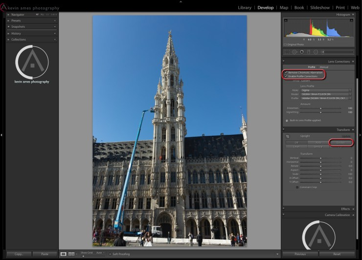 Guided Upright In Lightroom's new Transform panel
