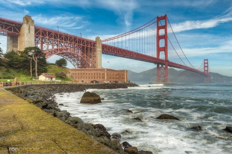 Light Golden Gate Bridge