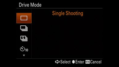 Setting up Bracketing on Sony Cameras