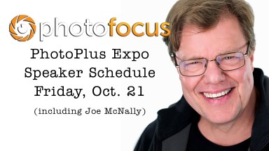 Live Speaker Schedule for Friday at Photo Plus Expo