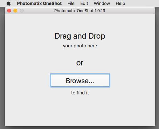 Photomatix One Shot Open File Dialog