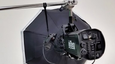 In The Photography Studio – Securing a Radio Trigger