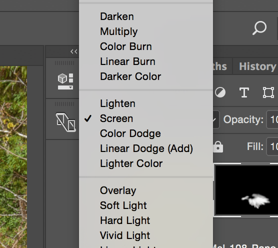 Set the Layer Blend Mode to Screen.