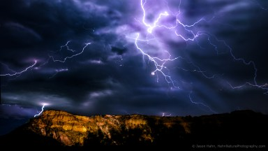 Lightning Over Palo Duro Canyon