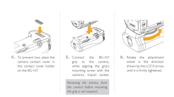 Attaching Battery Grip