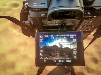 Shooting a 5-shot bracketed HDR.
