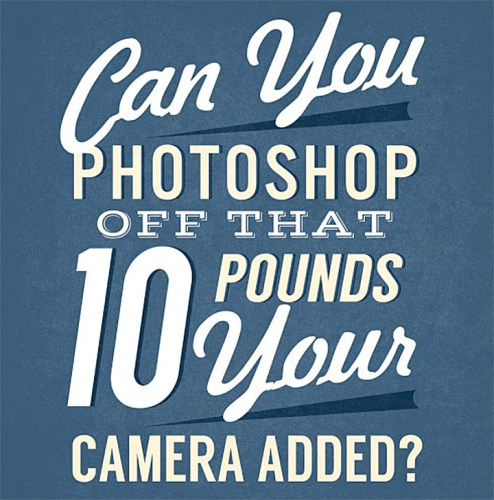 Can you Photoshop off that 10 pounds your camera added?