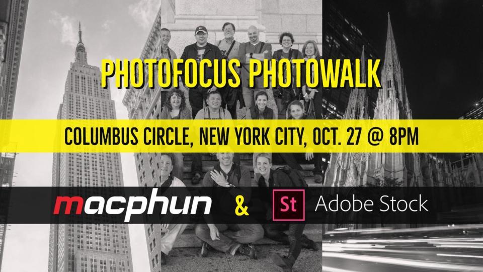 NYC Photowalk with Photofocus, Macphun, & Adobe Stock October 27, 2017 8:00pm
