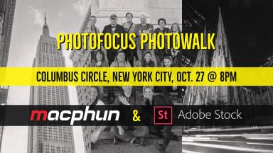 NYC Photowalk with Photofocus, Macphun, & Adobe Stock October 27, 2017 8:00pm