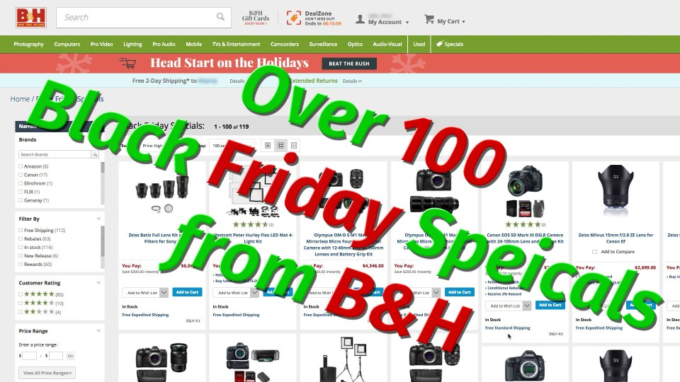 Black Friday Specials from B&H