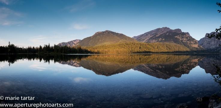 Phelps Lake morning panorama in Grand Teton © Marie Tartar 2017