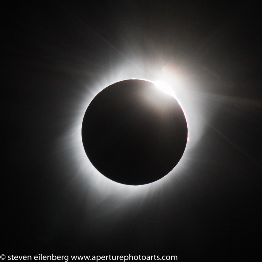 August 2017 Total Solar Eclipse sun close-up © Steve Eilenberg