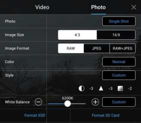 DJI Go 4 App Photography Screen