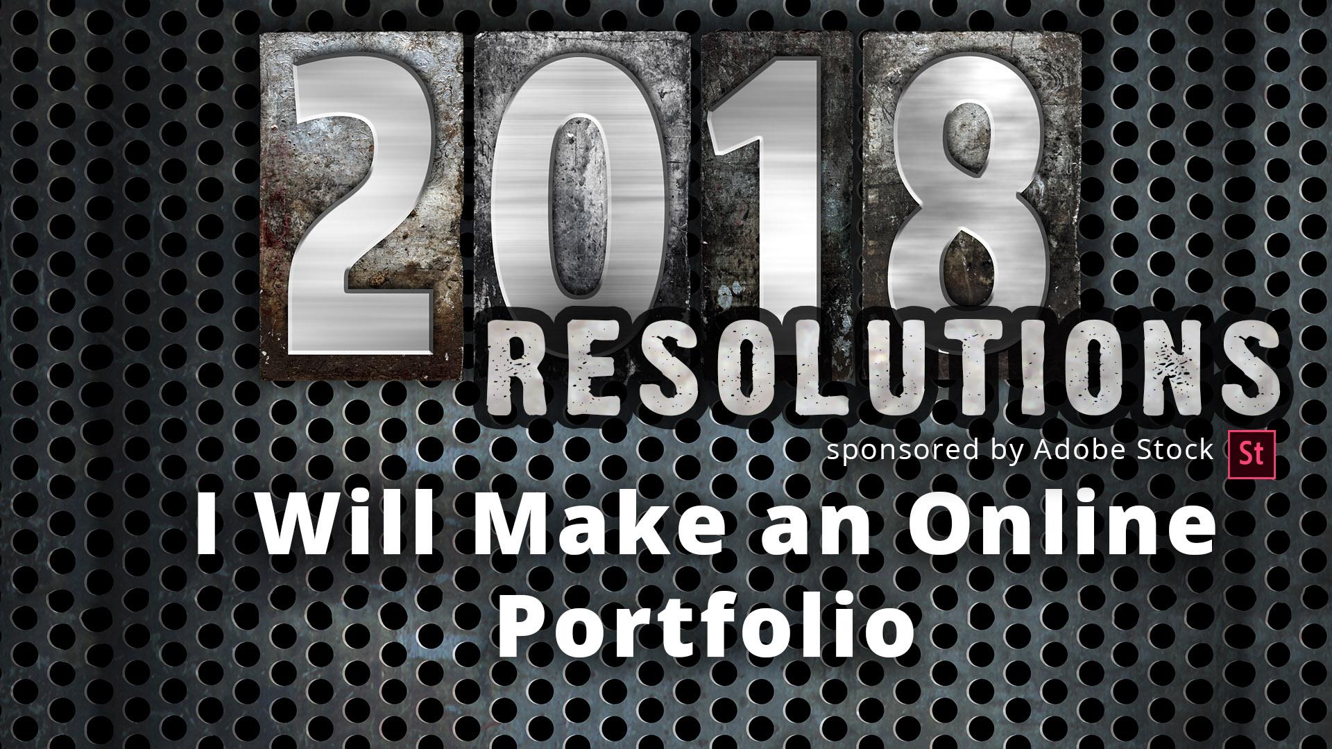 I Will Make Online Portfolios webinar sponsored by Adobe Stock