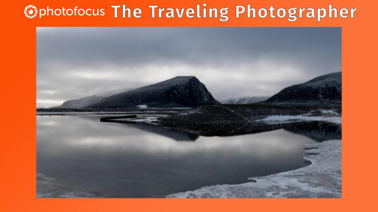 Arctic landscape scene in Svalbard in Norway's Arctic Circle