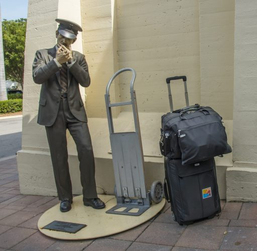 """""""Taking a Break"""" by Seward Johnson with a ThinkTankPhoto Airporter"""