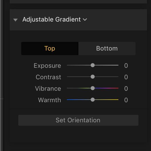 Adjustable Gradient Filter
