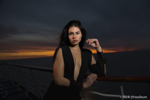 Bahamas, cruise, Royal Caribbean, model, sunset