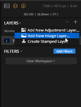 2a Add New Image Layer in Luminar