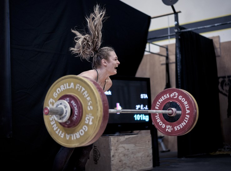 Olympic weightlifter gets a new pr