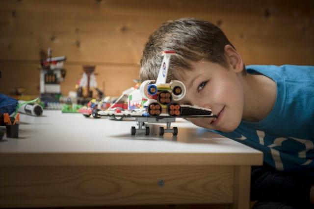 boy, lego, airplane, toy