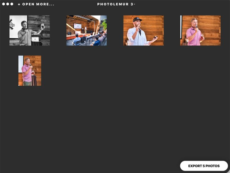 Editing multiple images in Photolemur