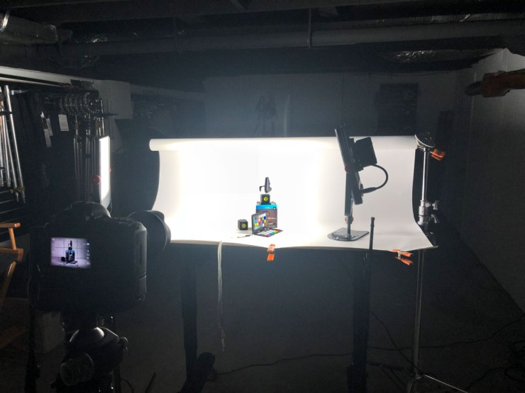 Behind the scenes of the LumeCube opening photo shoot