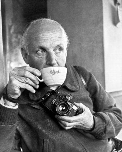 Henri Cartier-Bresson with Leica camera