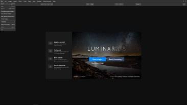Open an image in Luminar