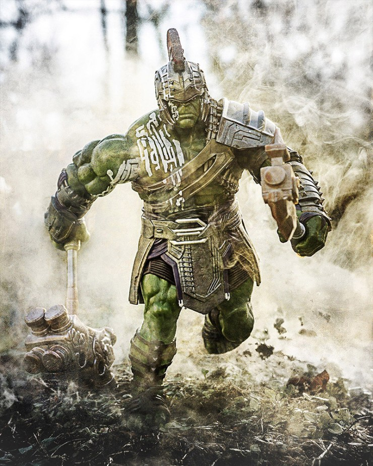 The Hulk is a great action figure for toy photographers.
