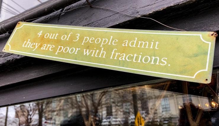 4 out of 3 people admit they are poor with fractions