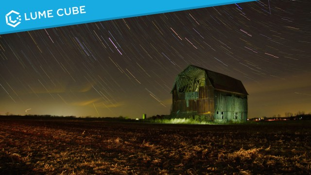 Lighting up a barn with Lume Cubes