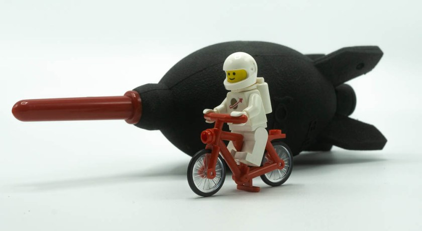LEGO minifig and a rocket air blower