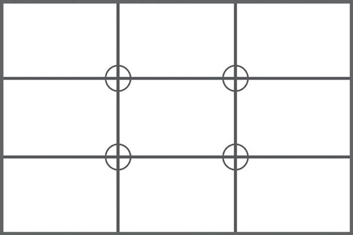 The rule of thirds grid.