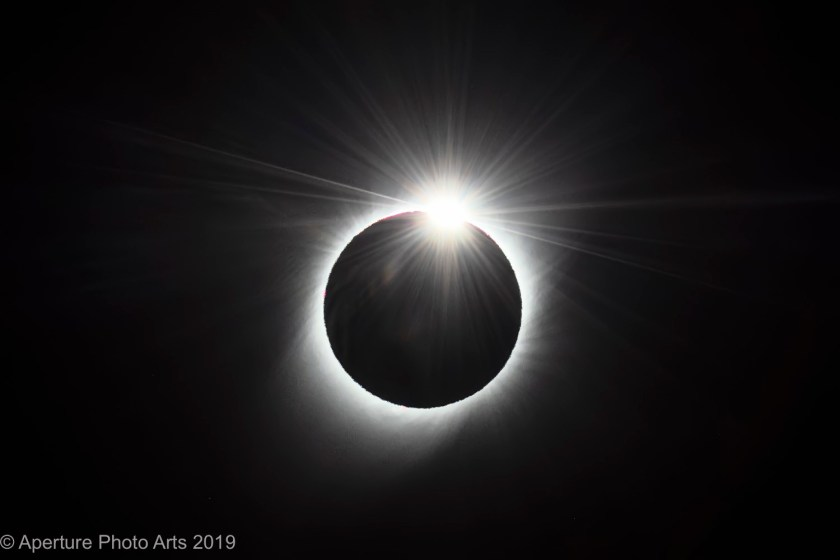 South American total solar eclipse diamond ring