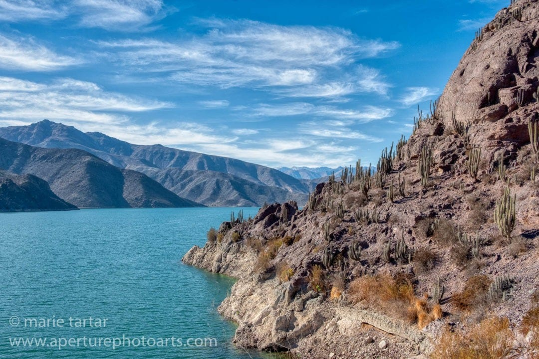 Embalse Puclaro in Elqui Valley of Chile