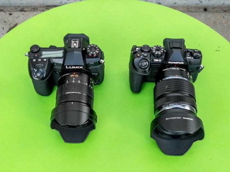 Leica 12-60 Lumix G9 Olympus EM1 MKII