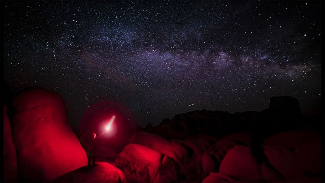 Make a portrait with the Milky Way
