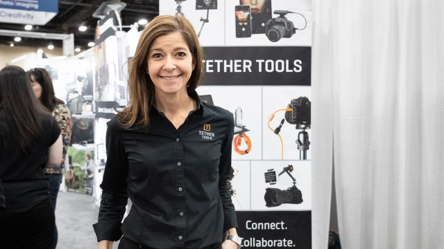 Discussing Tether Tools' new Air Direct at WPPI